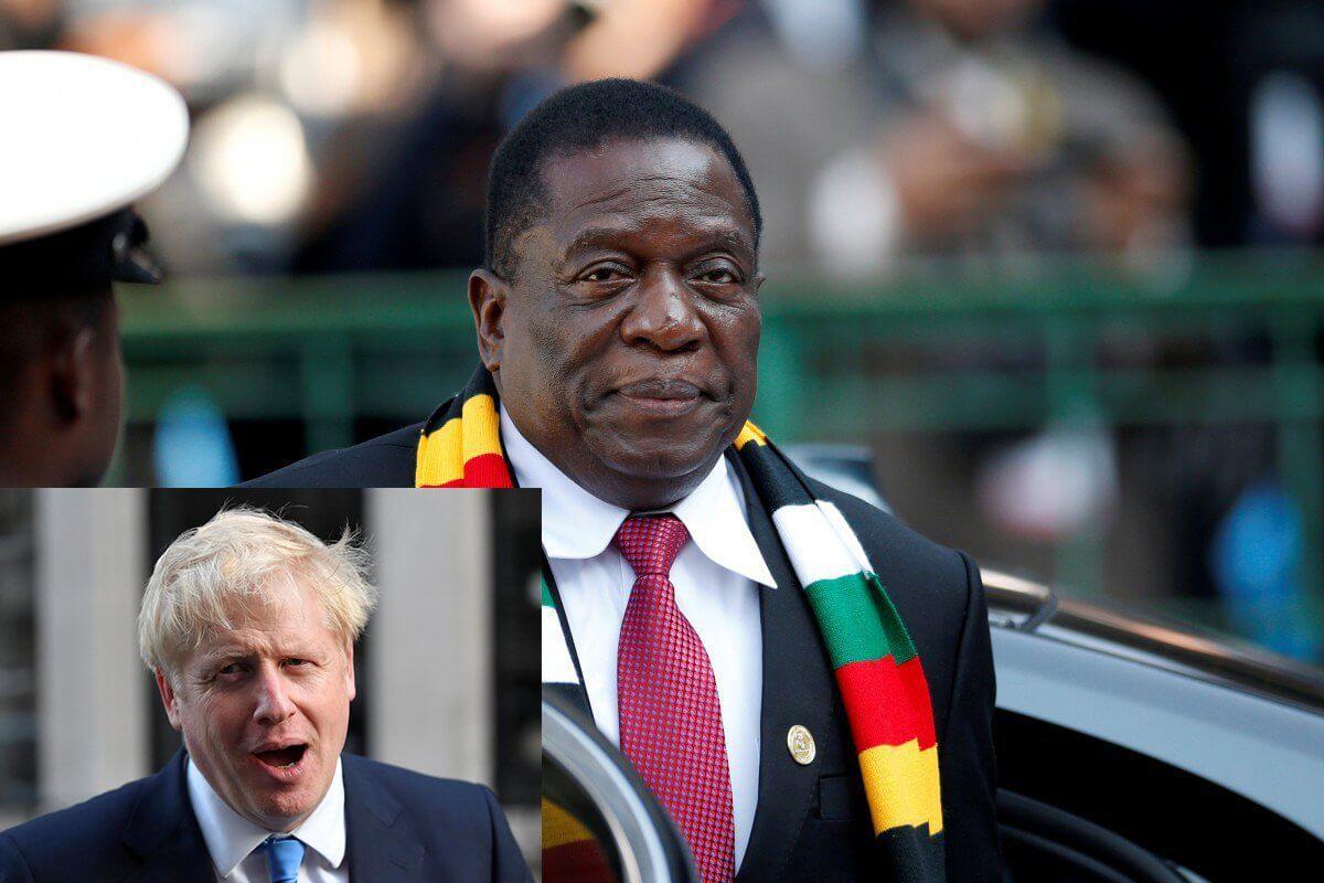 Boris Johnson and Mnangagwa