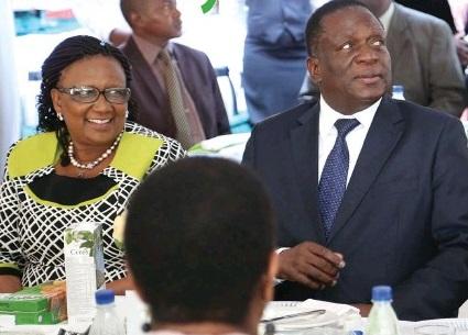 Mnangagwa and Priscah Mufumira