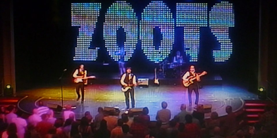 The Zoots live on stage