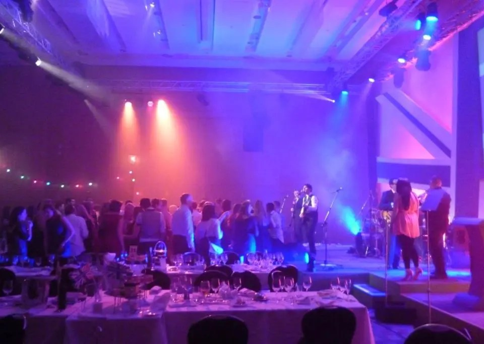 The  Zoots party band at the Aldermore Conference at The Hilton In Manchester