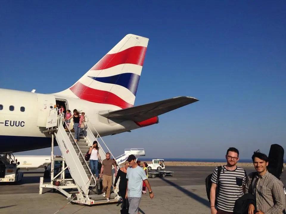 The Zoots boarding a plane in Spain