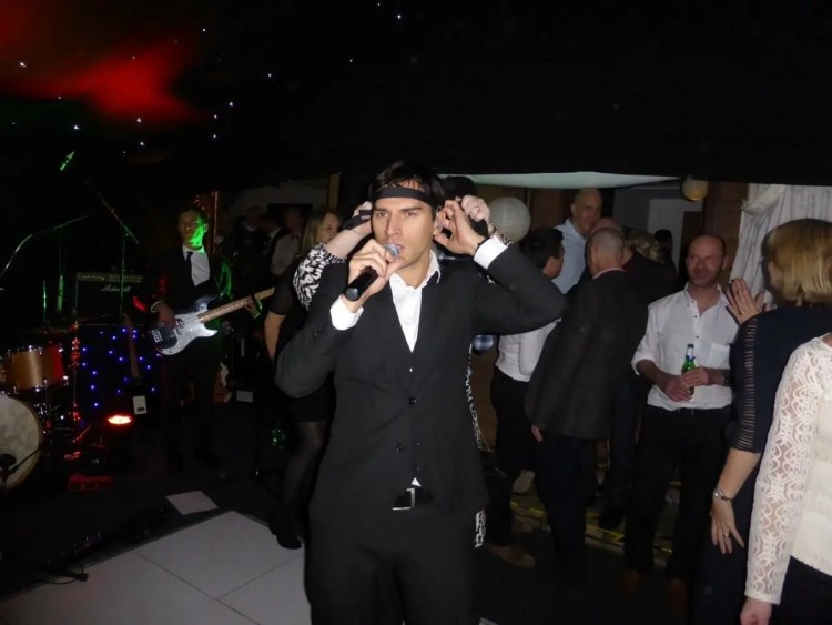 Jamie Goddard, singer, The Zoots party band, band for 50th birthday, band for hire in Hertfordshire, band for hire in little hadham, Wedding band in Little Hadham, Party band in south west