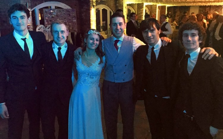 Jay and Bex Wedding, Wedding at Northbrook Park, Wedding band for Hire, The Zoots, Wedding Venue in Surrey, Orangery wedding venue, Band for hire, guests dancing,
