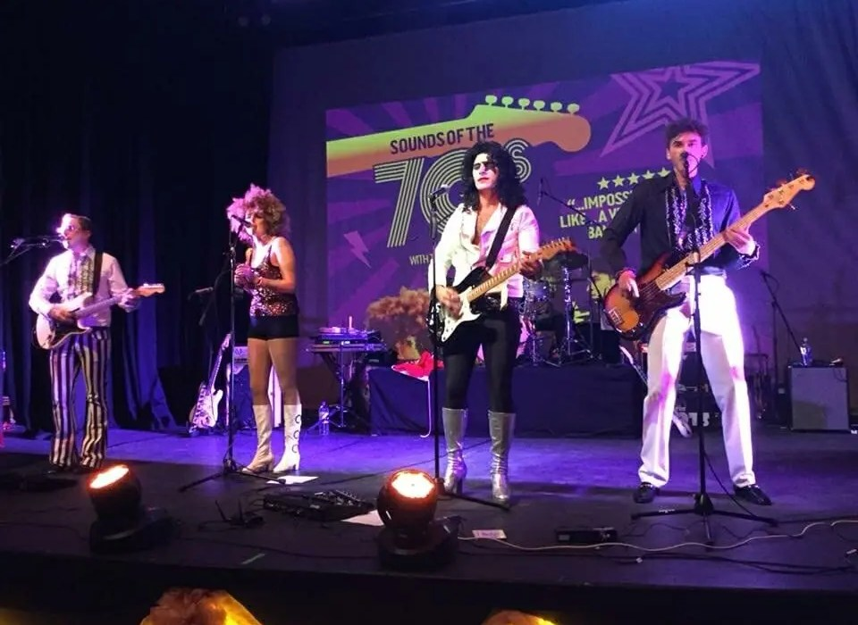 Sounds of the 70s, 70s tribute show, 70s band, band for 70s party, Seaton Gateway, the zoots