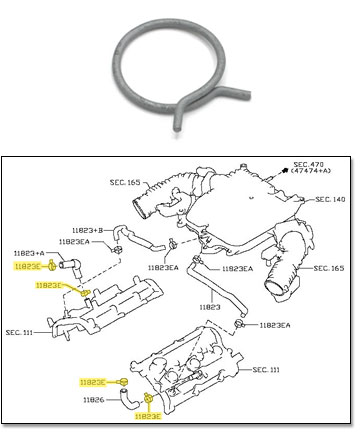 Motorsport! Factory Hose Clamp, Breather Tube, 15-19 370Z