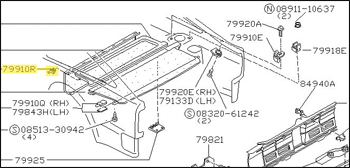 Motorsport! Factory Tonneau Cover Tray Mounting Pin, 84-89