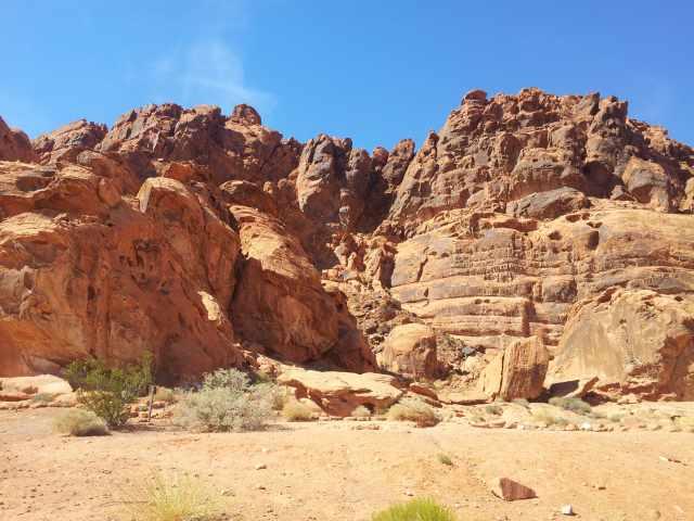 rochers dans la vallée du feu