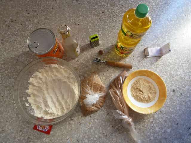ingrédients pour cuisiner des chebakias