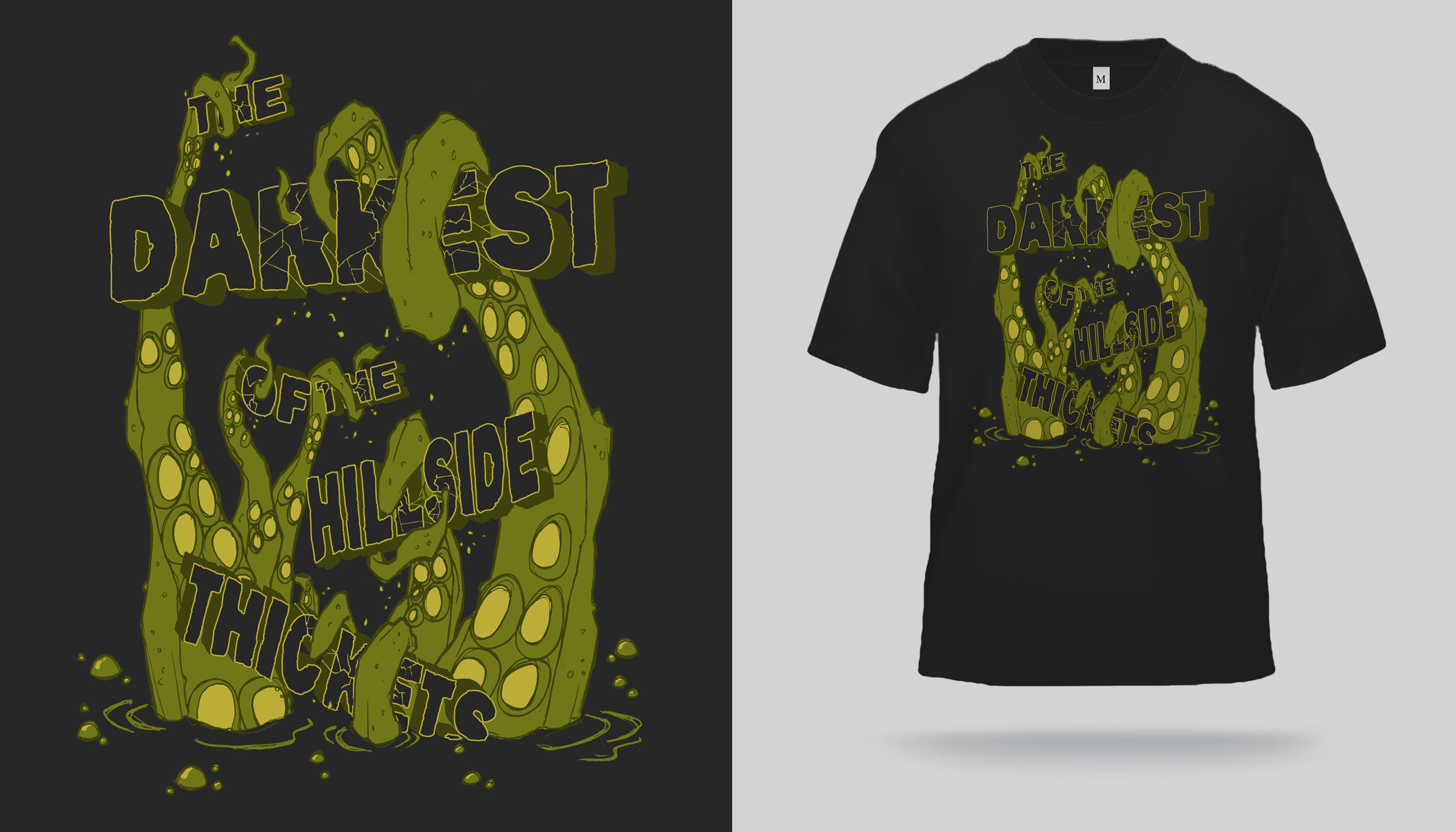 thickets tentacle pool t shirt designed by ebon aves apparel click to engorge
