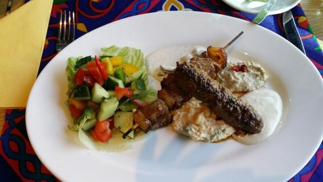 Pyramids kebab plate