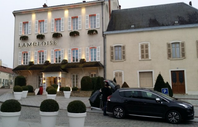 Front on the La Lameloise hotel and 3 star restaurant