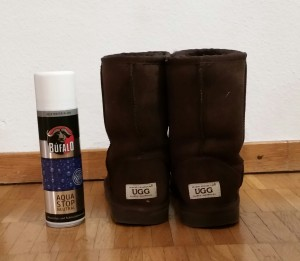 Aqua stop makes your Ugg boots water resistant