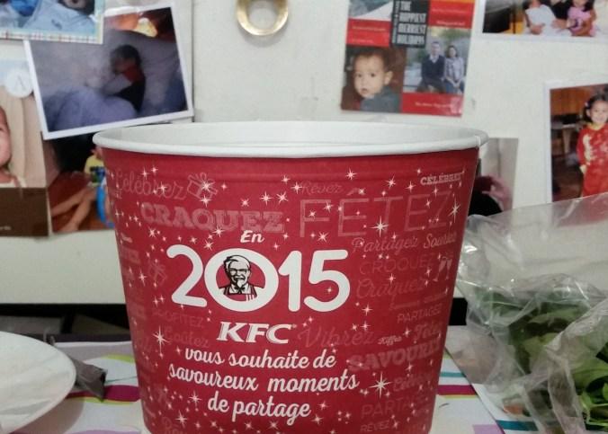2015 KFC bucket happy new year