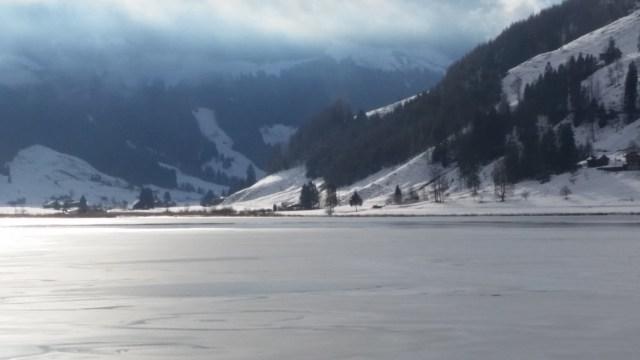 Lake Sihlsee in Winter