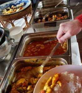 4 hot dish buffet at Kang In