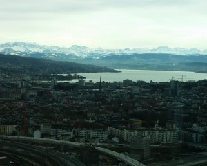 Mountains and Lake Zurich, the magic view from Clouds Bistro