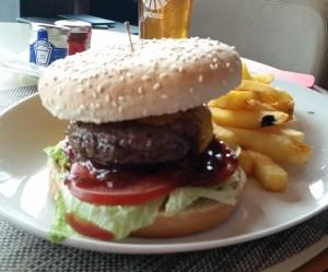 Burger at Clouds Bistro Zurich