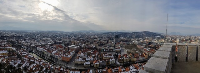 Ljubljana panoramic view