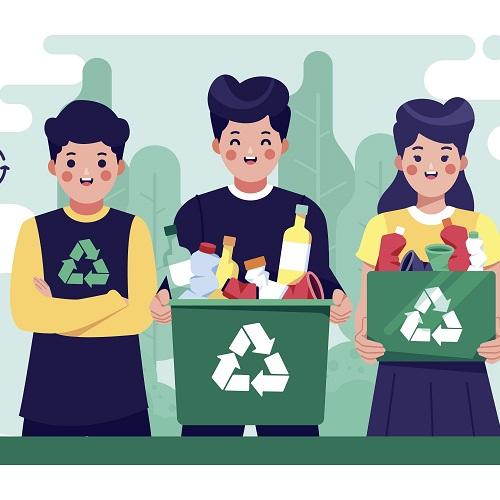Collecte du verre et déchets verts