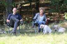 Thimm's Retriever - Susanne, Thomas, Yoshi und Maja als Zuschauer beim Sennecup