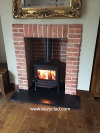 Cast bricks used to build a fireplace - PREMIER BRICK SLIPS