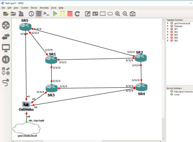 5 Router Multicast Topology