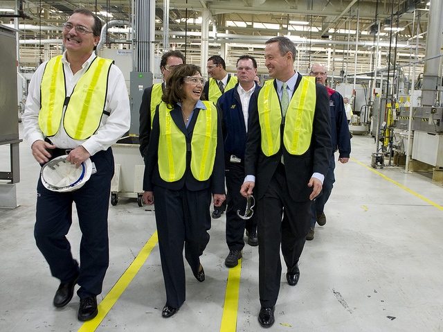 happy workers in a factory