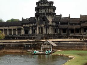 A dock at Angkor Wat's moat.
