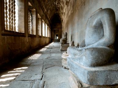 A hallway in Angkor Wat.