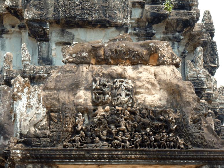 A carving at Angkor Wat.