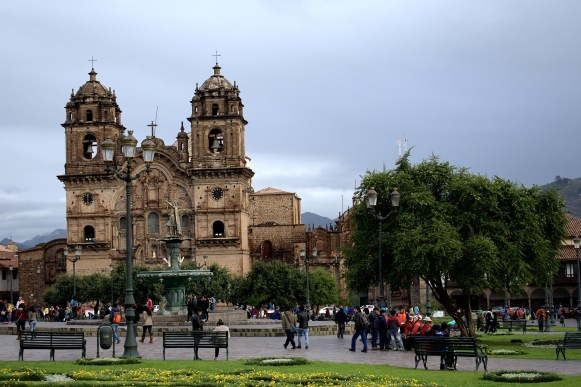 Cusco Cathedral in the Plaza de Armas.