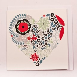 White-Gift-Card-With-Blue-Green-Red-And-Grey-Flower-And-Leaf-Pictured-Heart1