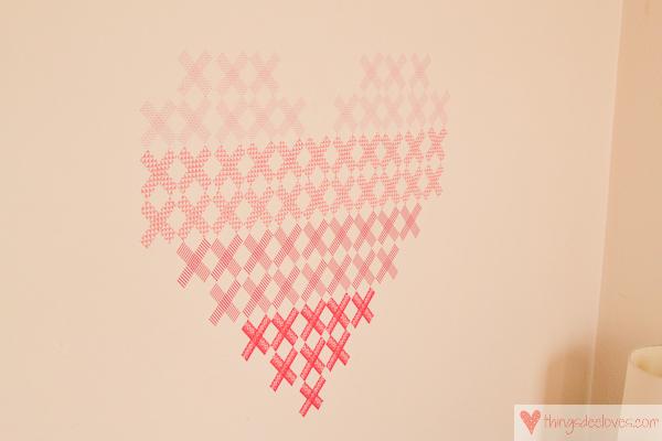 washi tape heart mural-10