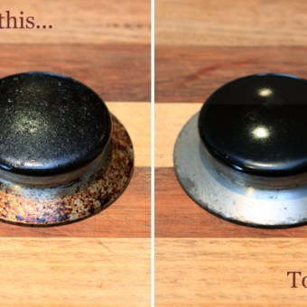 Cleaning my Stove Burners – no scrubbing required!