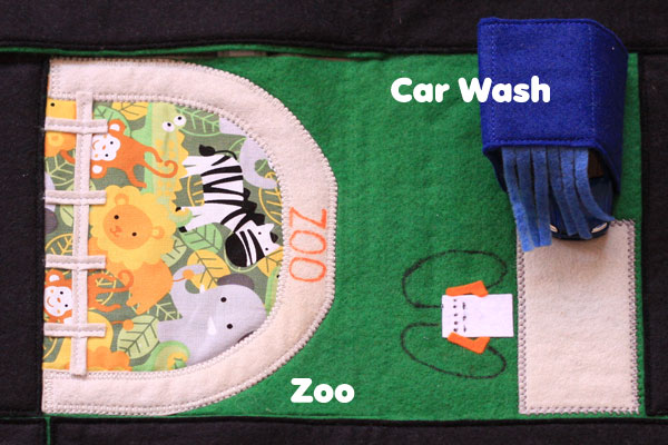 Stash and Carry Felt Play Mat