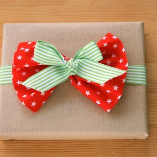 Fabric Scraps for Gift Wrapping