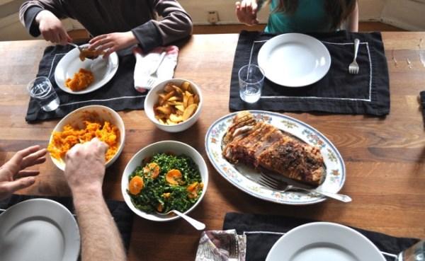 roast pork belly dinner