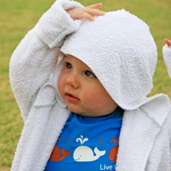 Making a Kids Bath Robe from 2 Towels