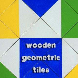 Handmade Gifts for Boys: Wooden Geometric Tiles