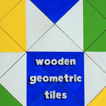 Handmade Gifts for Boys: Wooden Geometric Tiles