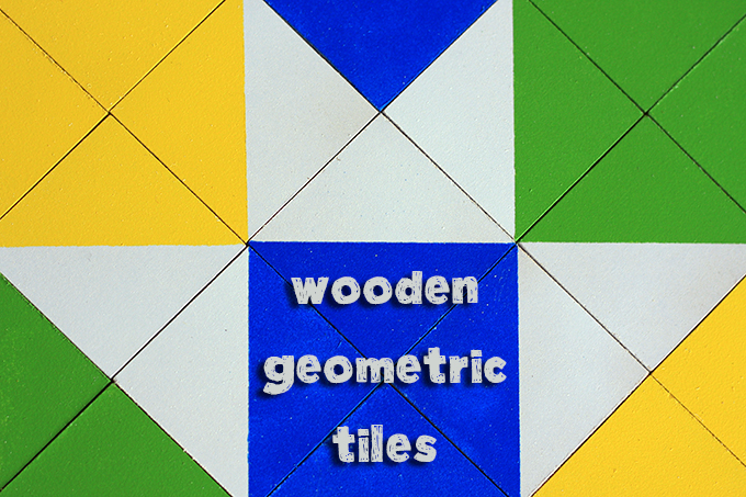 Wooden Geometric Tiles