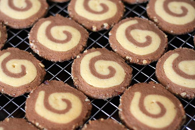 Hazelnut Spiral Cookies
