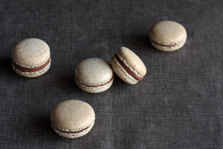 earl grey ,macarons