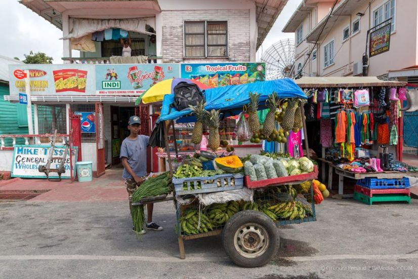 A Vegetable and Fruit Cart in Bartica
