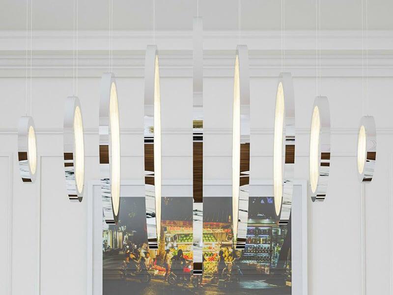Lampadari moderni il design con una forma perfetta