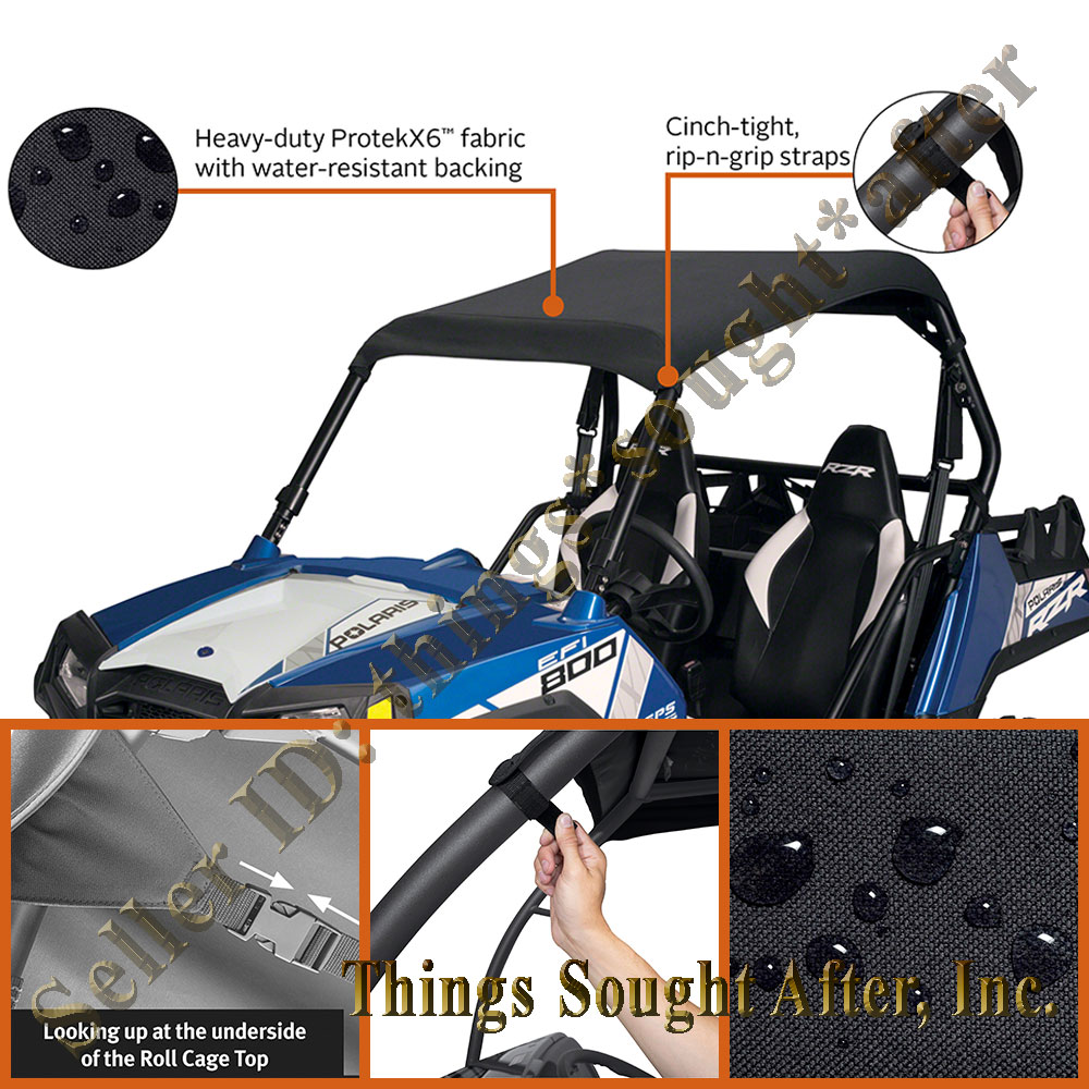 hight resolution of details about canvas roof for 2008 2009 2010 2011 polaris rzr 800 rzrs xp s razor bimini top