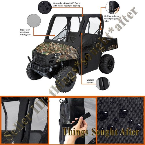 small resolution of details about black soft cab enclosure 2009 2010 kawasaki mule 4000 4010 4x4 diesel cabin