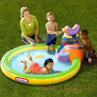 Little Tikes Harbor Falls Infatable Kids Swimming Blow Up ...