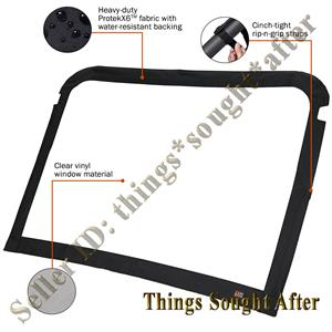 VINYL WINDSHIELD for 2018 YAMAHA VIKING 700 3 or 6