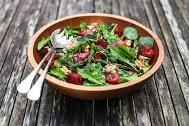Spinach steak salad